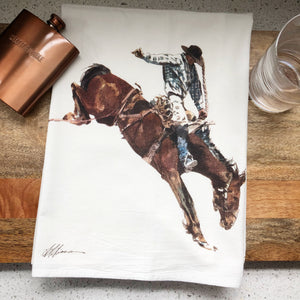 Cowboy Plaid Flour Sack Kitchen Towel