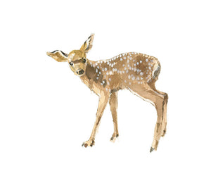 Fawn Side Nursery Watercolor Print