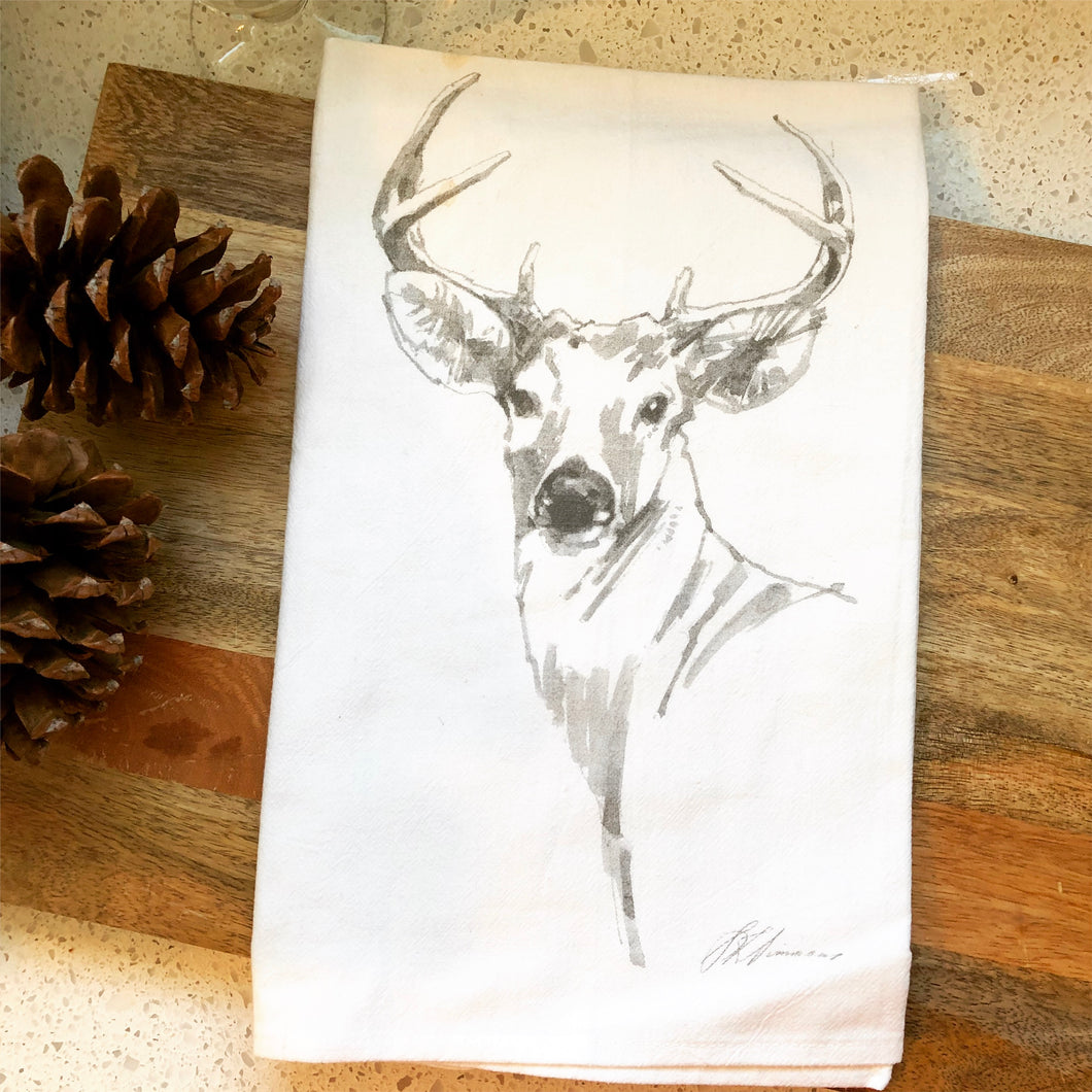 Buck Flour Sack Kitchen Towel