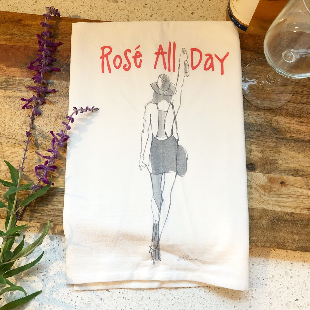 Rose All Day Girl Flour Sack Kitchen Towel