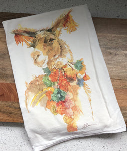 Llama Party Flour Sack Kitchen Towel