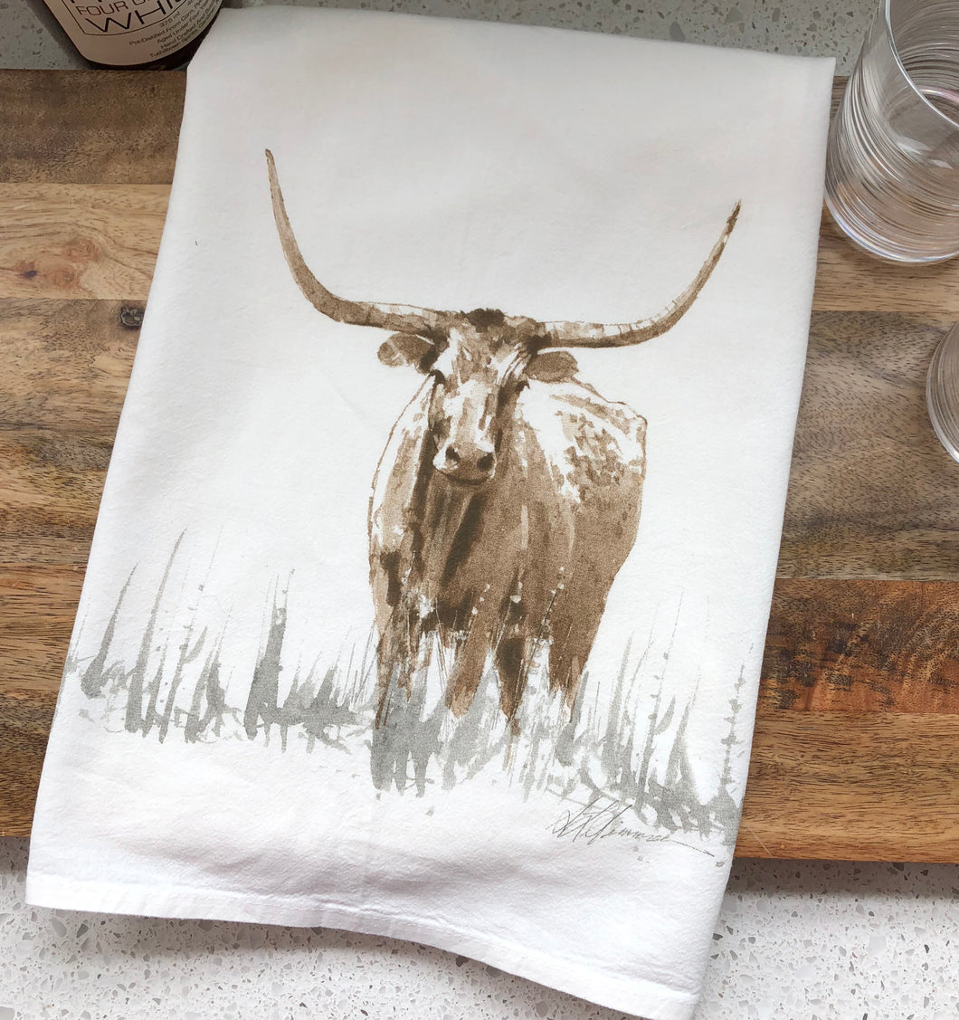 Longhorn Flour Sack Kitchen Towel