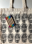 Sugar Skull: CYO Market Tote Kit With Eco-Friendly Crayons