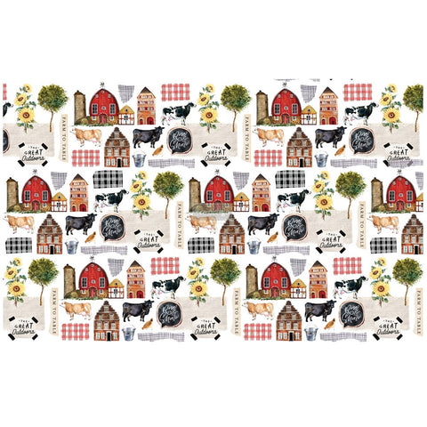 Farm to Table decoupage paper