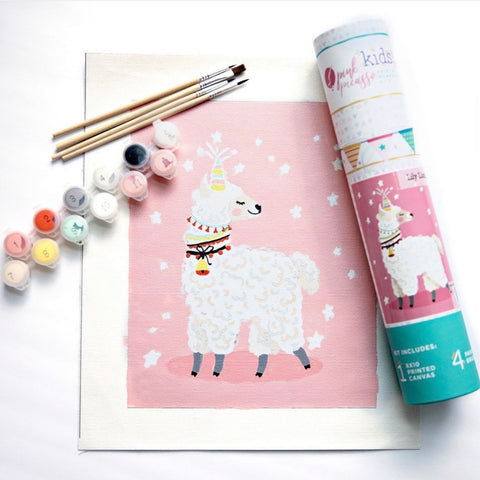 Lilly Llamacorn paint by number