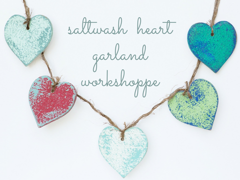 Saltwash Heart Garland WorkShoppe