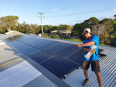 Nathan loving the new SunPower Maxeon Panels