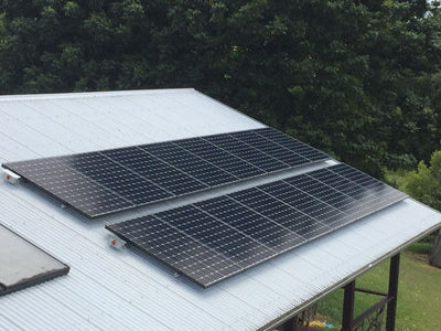 24 Volt Off-Grid Solar,Nickel Iron Cells and SunPower panels