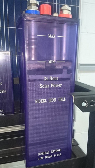 24 volt Nickel Iron Solar Battery NiFe cells for Off Grid set up
