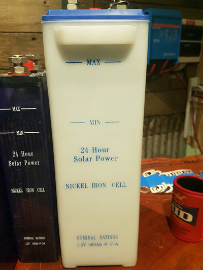 24 volt Nickel Iron Solar Batteries NiFe Cells