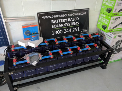 24 Volt 300ah Nickel Iron Solar Batteries NiFe Cells and Victron Inverter Charger 24v