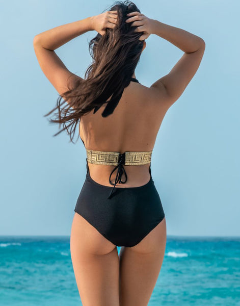 Golden Onyx Baroque One-Piece