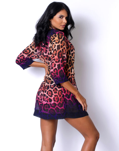 Ombre Leopard Coverup