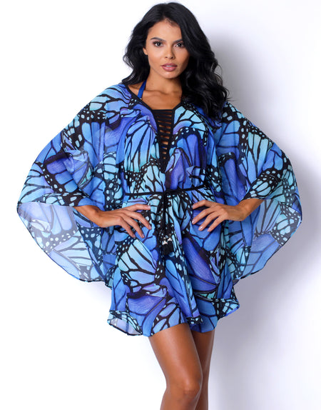 Blue Peacock Coverup