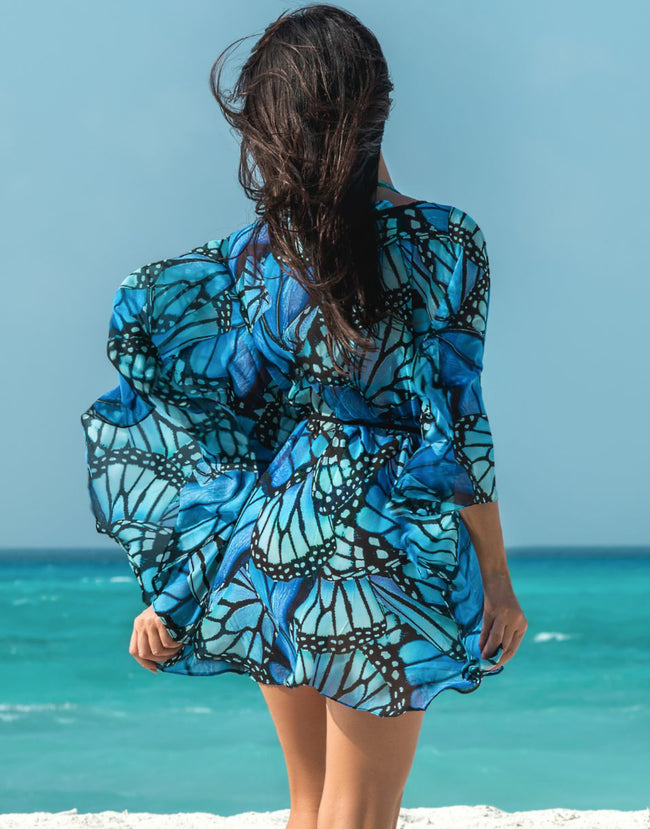Blue Butterfly Caftan