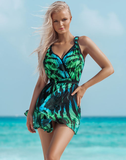 Emerald Amazon Mini Dress