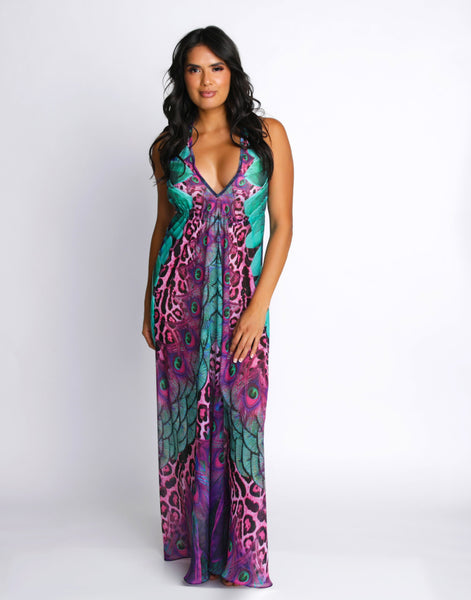 IRIS SAVANNAH PLUNGE DRESS