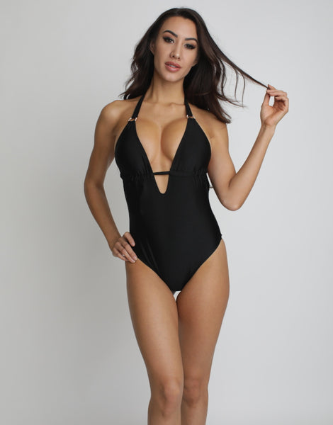 OPULENT BLACK ONE PIECE