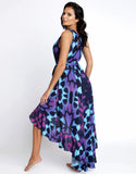 Purple Butterfly Hi-Lo Dress