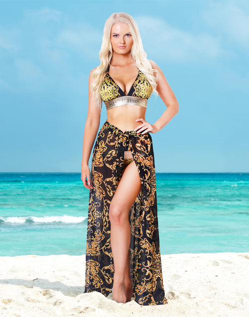 Onyx Baroque Pareo Skirt