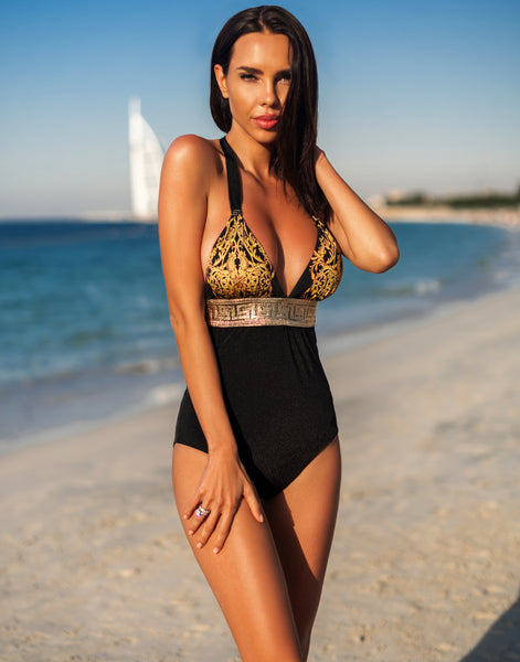 Onyx Baroque One-Piece