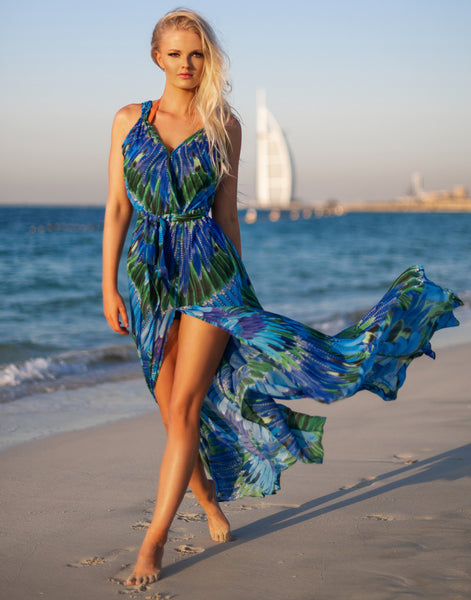 Royal Phoenix Maxi Dress