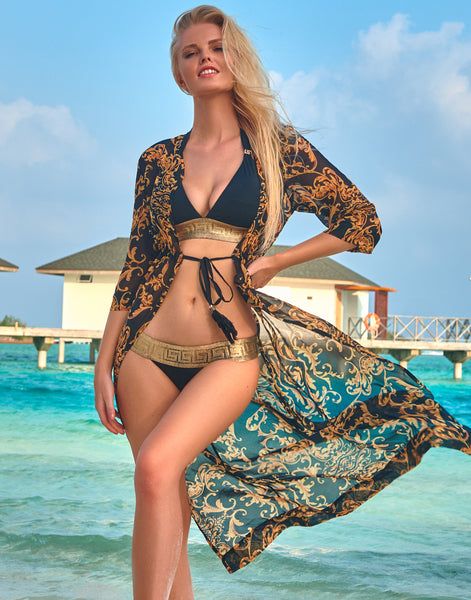Onyx Baroque Coverup - Long