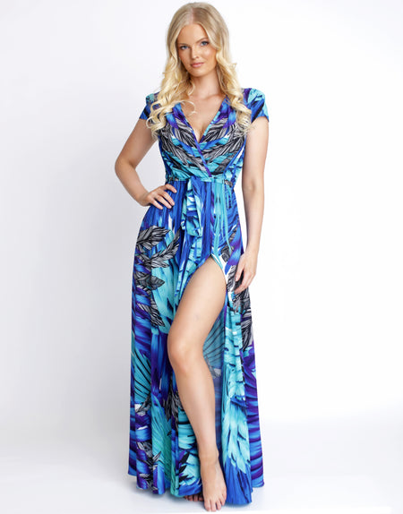 Ocean Floor Maxi Sleeve Dress
