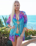 Mint Butterfly Coverup - Short