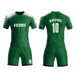 Custom Sublimated team Soccer jerseys set with your team Logo, name and number