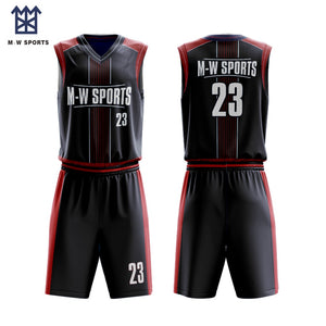 Custom Latest Good High Quality Basketball Uniform Lined Breathable Sublimated Basketball Jersey