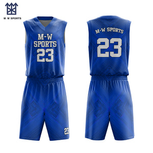 Asymmetrical Personality Design Breathable Basketball Wear Reversible Cheap China Made Basketball Uniforms