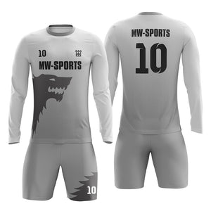 2019 Wholesale Long Sleeve Soccer Jersey Custom Sublimation Football Jersey For Man