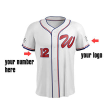 M-W Sports Good Quality Custom White Top Baseball Jerseys 100% Polyester Softball Shirts