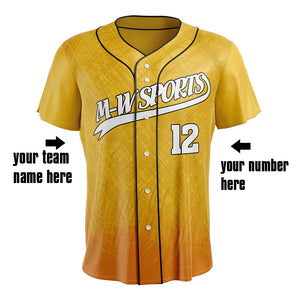 M-W sports Custom Your Own Design Printing Baseball Shirts Sublimation Baseball Jersey For Man
