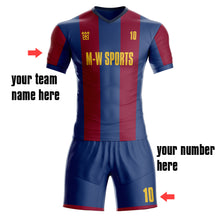 Custom Any Name & Number club Team men's Away Soccer Jersey/Short 3 Color
