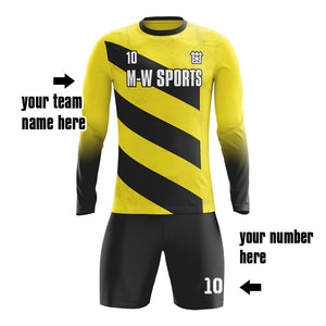 M-W Sports Youth Soccer Goalie Jersey Custom Breathable Double Fabric Soccer Uniform Plus Sizes
