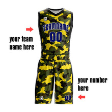 Camouflage Reversible Basketball Uniforms Sublimation Printing Sports Wear Mesh Basketball Jerseys