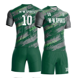 M-W Sports Custom Youth Sublimated Soccer Wear Wholesale Quick Dry Football Uniform