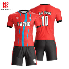 Custom Full Sublimated team Soccer jerseys set with your team Logo, name and number