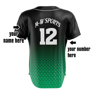 M-W Sports Custom Baseball Tops Various Colors Advanced Design Baseball Jerseys Training Sportswear