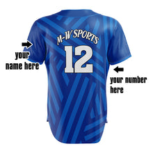 Wholesale Black and White Vertical Pattern Baseball Jersey Logo Name Sublimation Customized Sport Wear