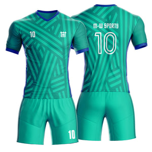 Factory Customized Football Uniforms Quick Dry Football Shirt Sublimation Men Soccer Jerseys