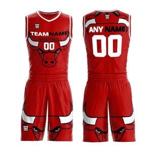 2019 Sublimation Cheap Reversible Basketball Uniform Custom Colo Red And White Basketball Uniform Design