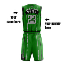 2019-2020 Newest Street Style Basketball Jersey Wholesale Basketball Shirt Green Color Sublimation Basketball Set Jersey