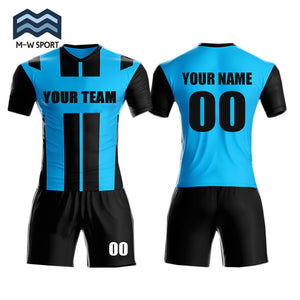 2018 Hot sale new design soccer uniform set custom team jerseys name and number