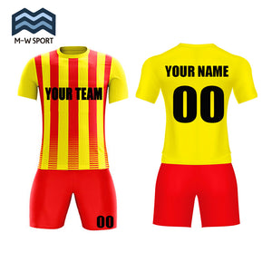 European style soccer uniform sublimation printing jerseys For Men Custom Your Name, Your Number