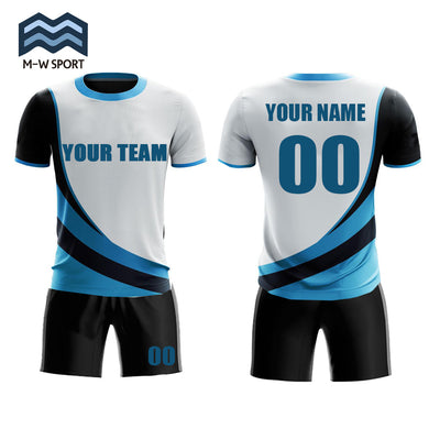 Jerseys design soccer uniform set custom team jerseys name and number