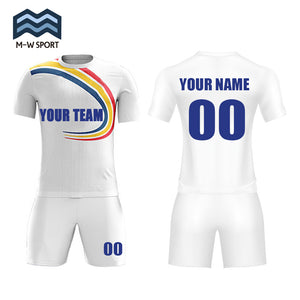 custom team soccer jerseys set design sport uniform with your team name ,your name and number
