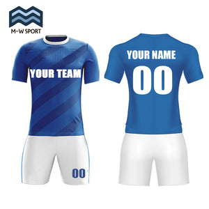 Hot sale new design soccer uniform set custom team jerseys name and number